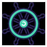 Image of a ship wheel