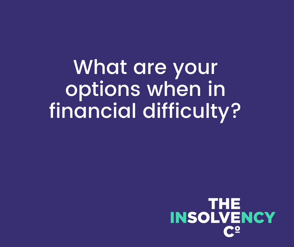 what are your options when in financial difficulty and logo